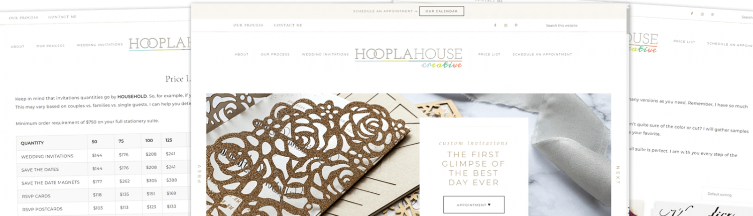 Hoopla House Creative - Website Redesign